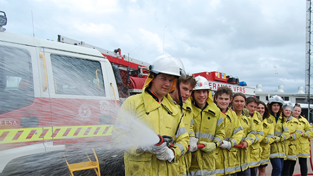 Agriculture Students completing Firefighting Competency